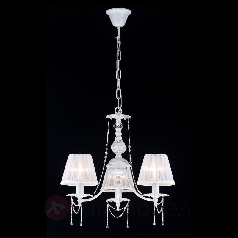 Belle suspension Lolita à 3 lampes - Suspensions en tissu