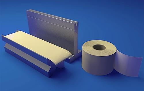 Press brake antimark film for bending - Safety press brake bending of dedicated surfaces