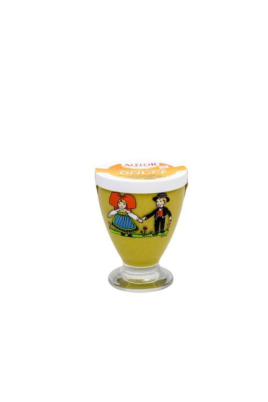 Moutarde douce d'Alsace en Verre à Boire Hansi 280G - ALELOR