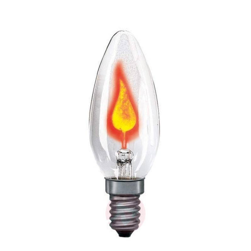 E14 3W flicker candle bulb clear - light-bulbs