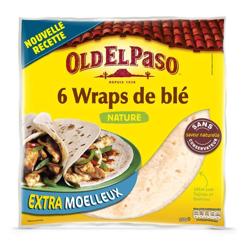 Wraps blé nature - OLD EL PASO - Wraps blé nature - OLD EL PASO