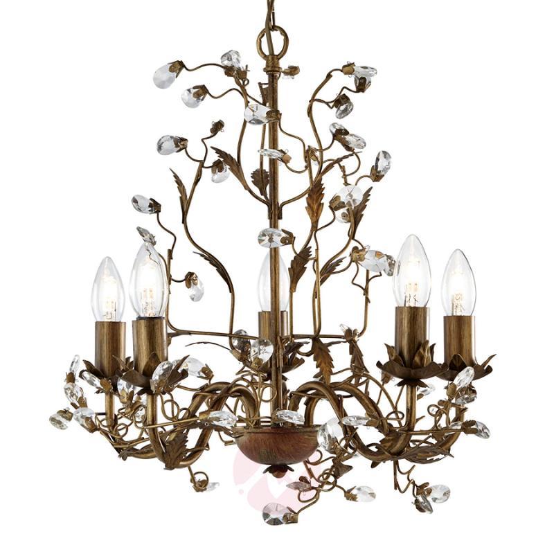 Wonderful Almandite chandelier with 5 bulbs - indoor-lighting