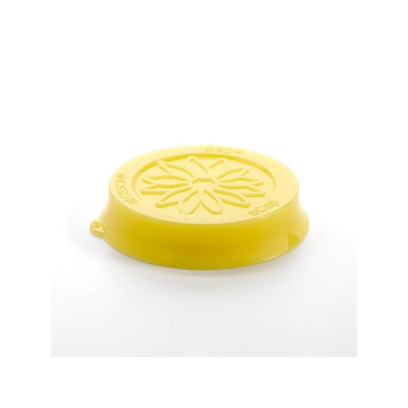Cuffia in silicone Blossom eCAP Storage - diametro 60 mm, colore Giallo per vasi WECK