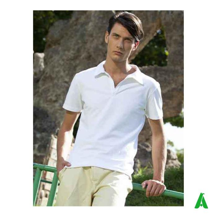 Polo Made in Italy per uomo, tessuto di qualita' - Polo piquet di qualita' Made in Italy, tessuto elasticizzato, morbido, elegante.