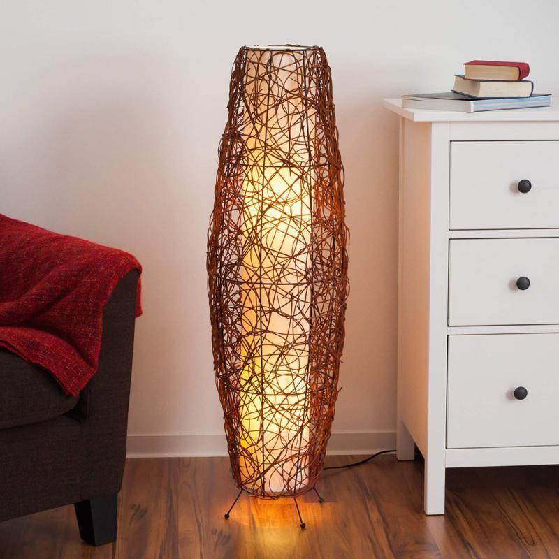 indoor floor lighting. Medine Rattan Floor Light - Indoor-lighting Indoor Lighting G