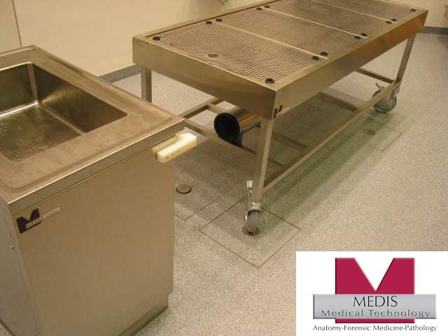 Docking Autopsy Table (mobile) with Perforated - MA-0974