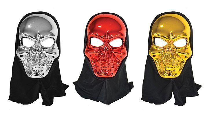 Masque argenté/rouge/doré - null