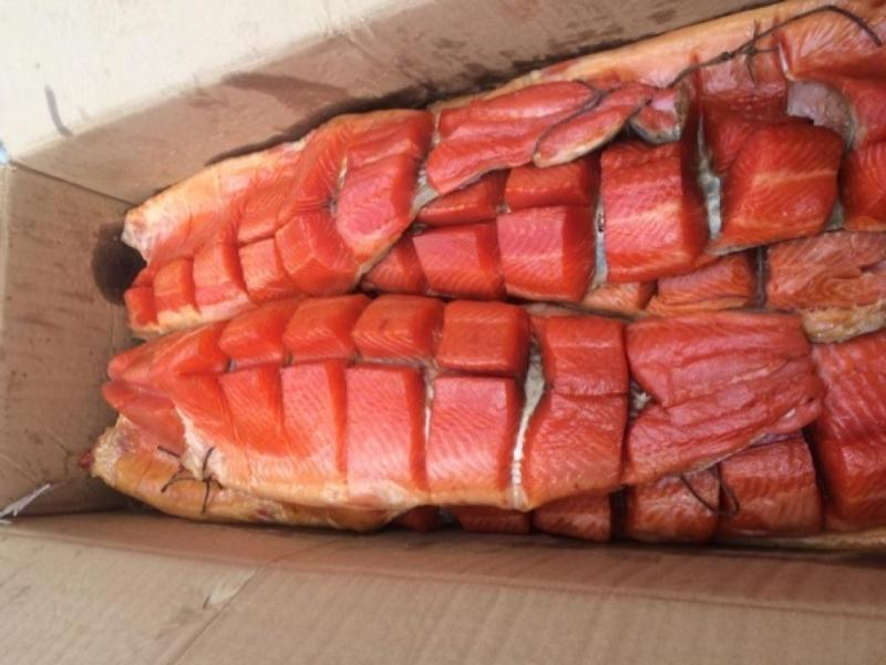 Cold Smoked Trout Yukola 0.35 kg + gutted (c) unpacked per 1 kg - SMOKED PRODUCTS