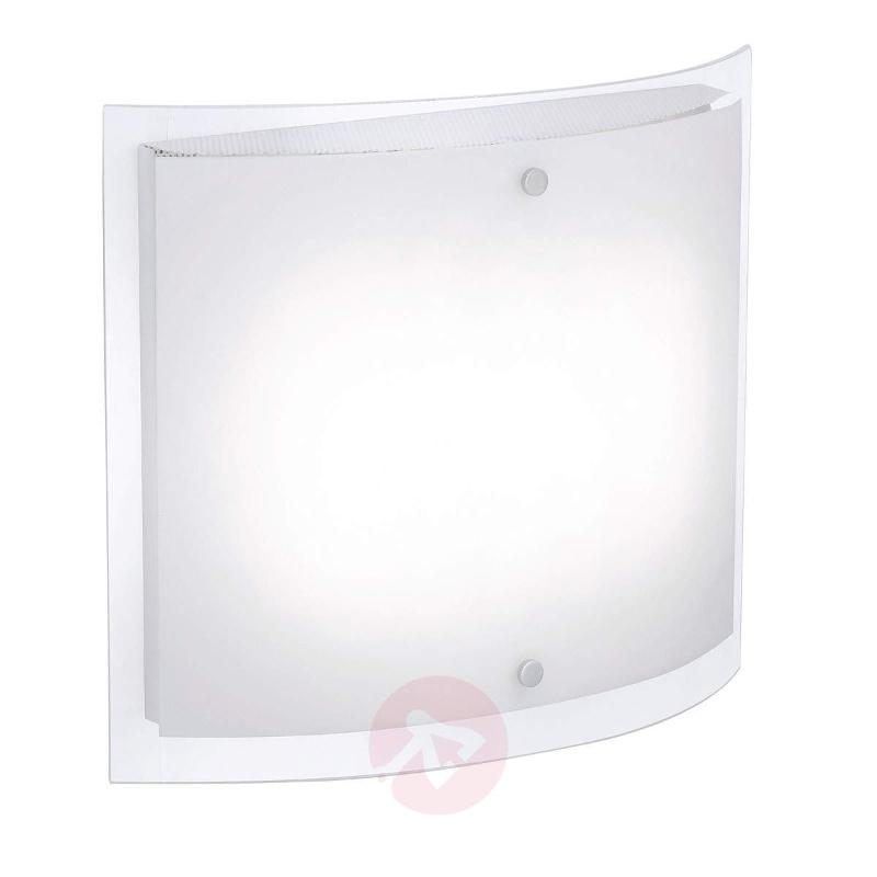 Glass ceiling lamp Nicklas with LED, 40x34 cm - Ceiling Lights