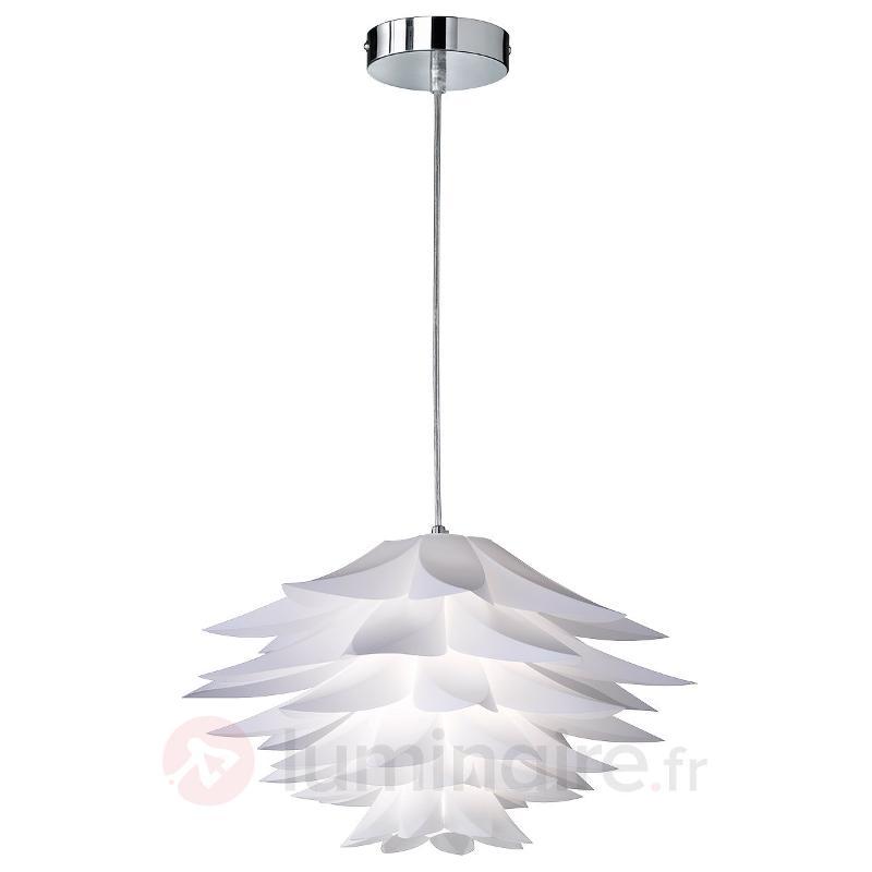 Suspension blanche en forme de fleur Bromélia - Cuisine et salle à manger