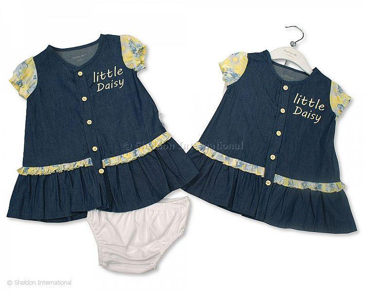 Baby Girls 2 pcs Denim Dress Set - Little Daisy - Infant Sets - Summer