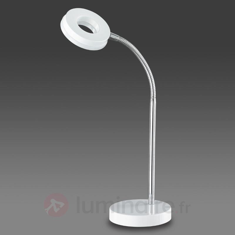 Lampe à poser LED Rennes, blanc éclatant - Lampes de bureau LED