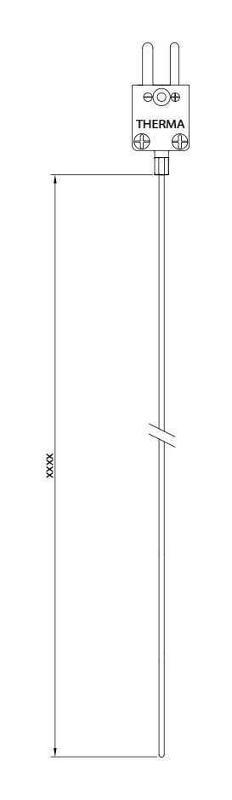 Teflon   Type K   gas-, steam-, watertigth - Wire thermocouple