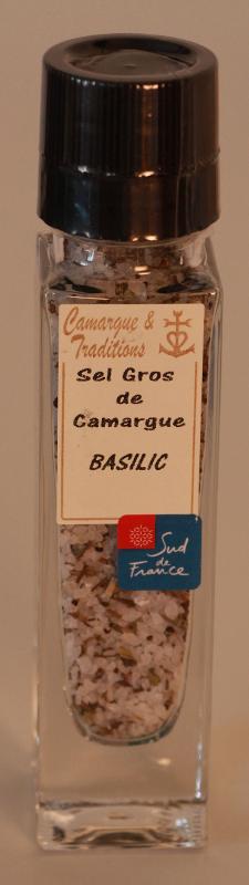MOULIN RECHARGEABLE - SEL GROS DE CAMARGUE - BASILIC - Epicerie salée