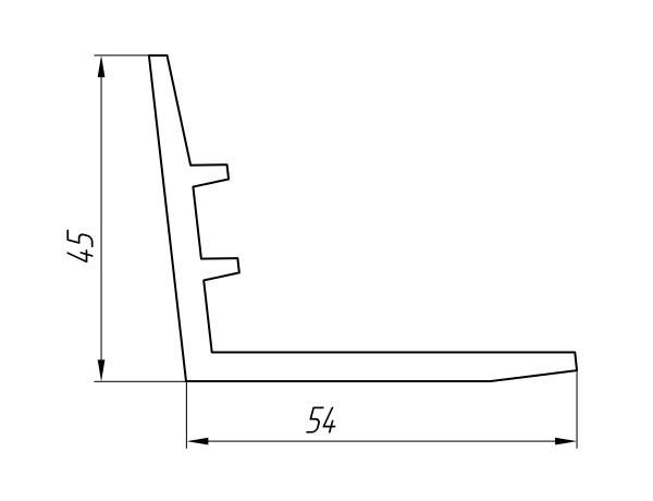 Aluminum Profile For Hatches Ат-1326 - Construction aluminum profile