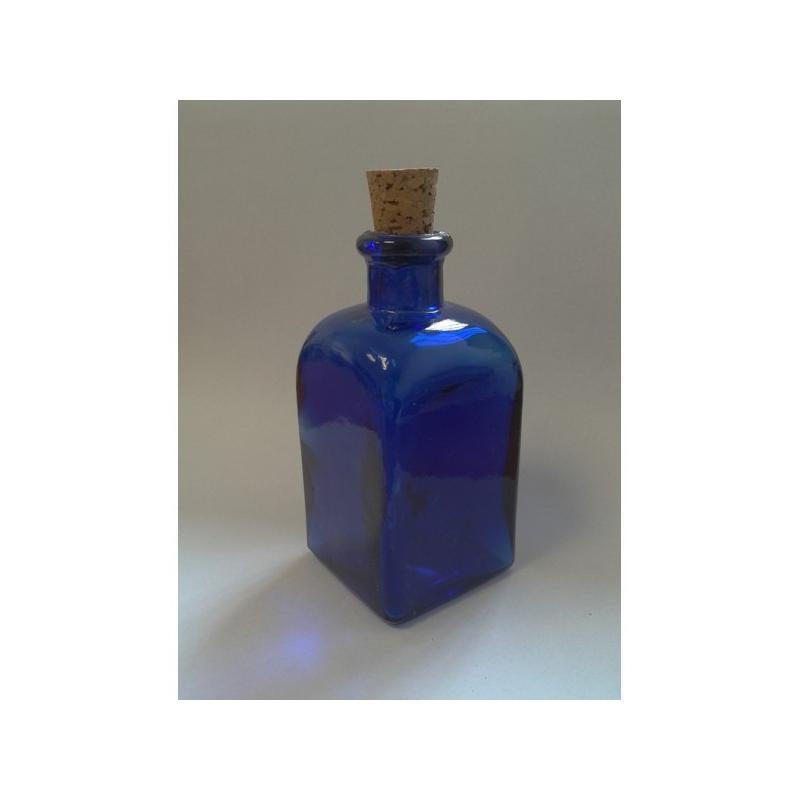 24 Mini flacons Frasco Carrés Bleus 100 ml MIGUEL ANGEL - Mini bocaux