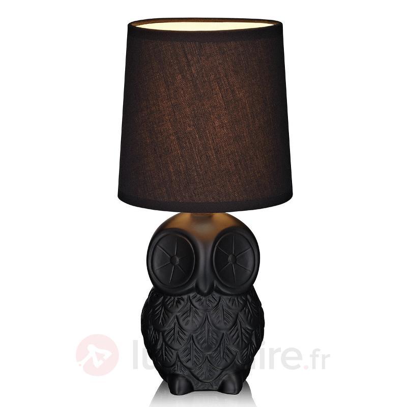 Lampe à poser Helge en forme de hibou - Lampes à poser en tissu