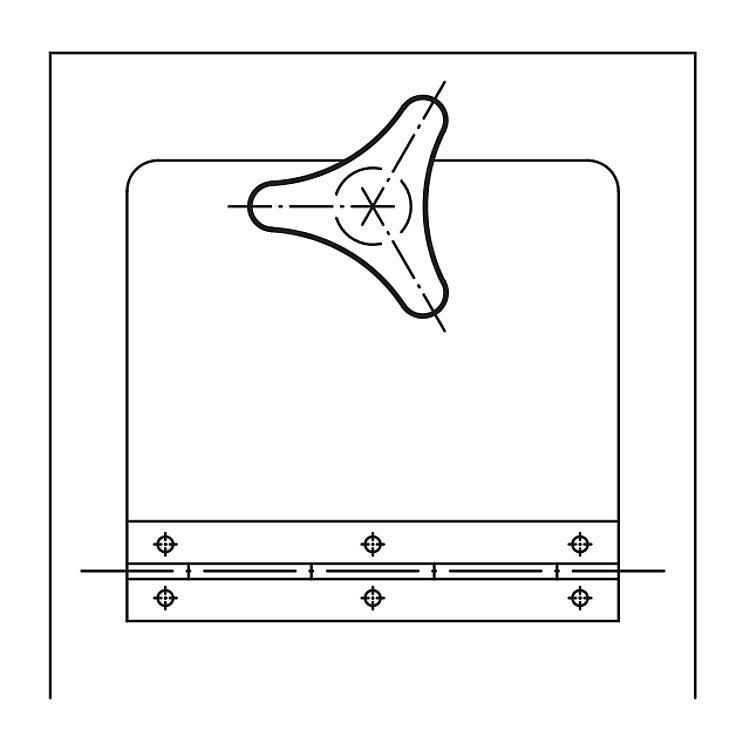 Bouton triangle embase longue - Poignées et boutons