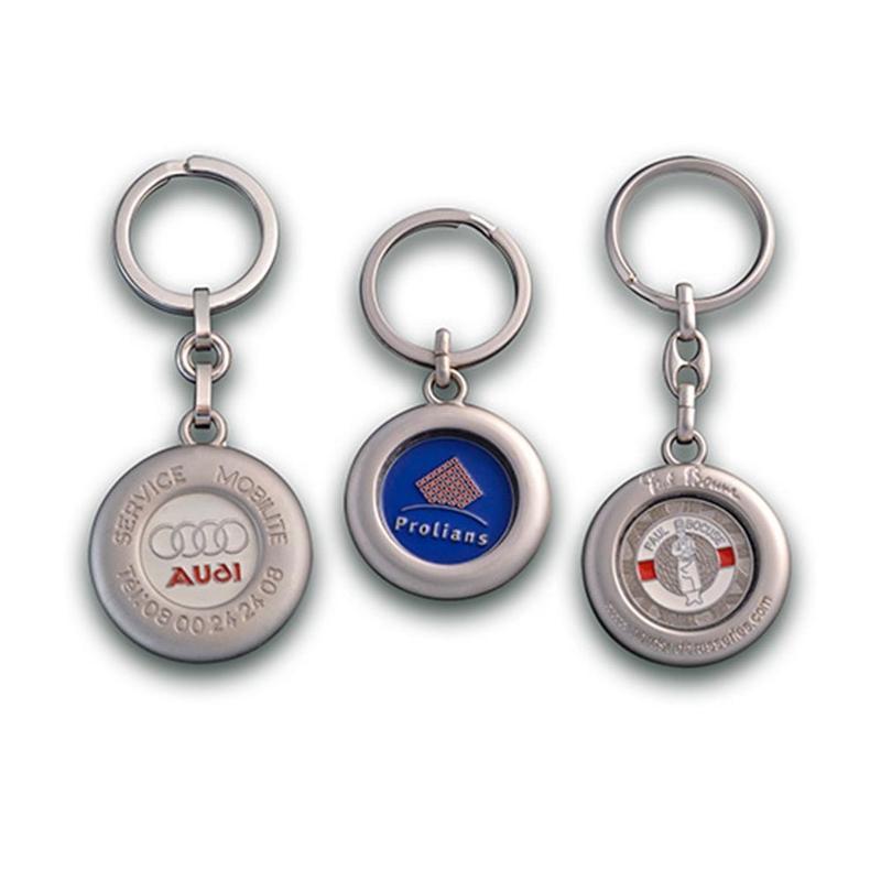 Porte-clés jeton Zamac - Porte-clés métal