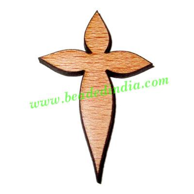 Handmade wooden cross (christian) pendants, size : 44x29x4mm - Handmade wooden cross (christian) pendants, size : 44x29x4mm