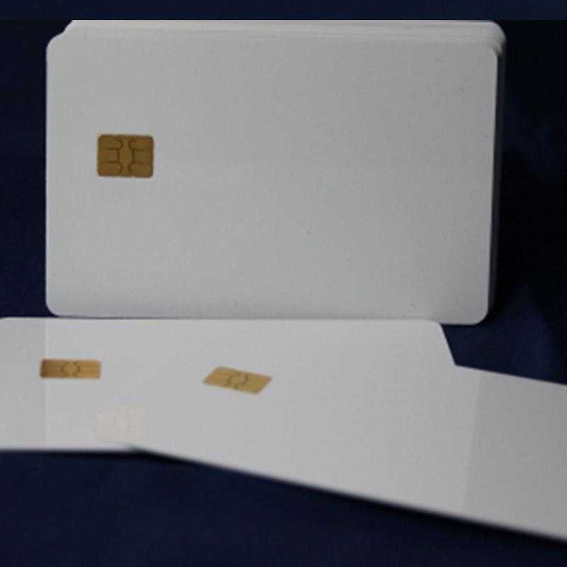 100 Pvc Cards, White With Sle5542 Chip - null