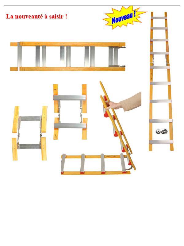 Echelles de toiture - Echelle pliante bois
