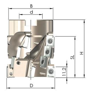 Vielzahnfräser VZF 40-40-77-3 KD16 - null