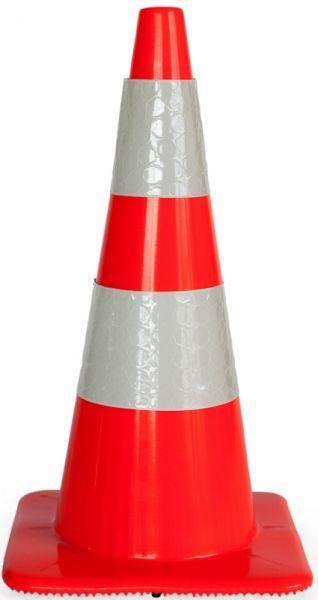 Cone soft pvc 2 H.I. stripes H 75 cm - SIKEL04HI