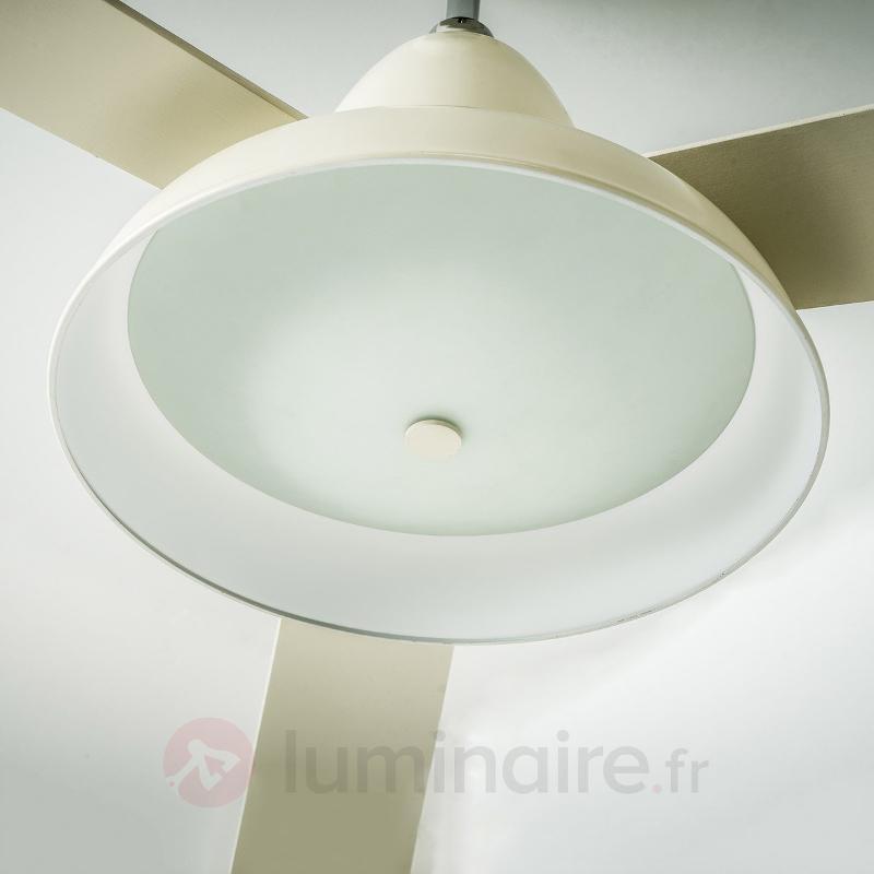 Ventilateur de plafond Vintage blanc antique - Ventilateurs de plafond lumineux