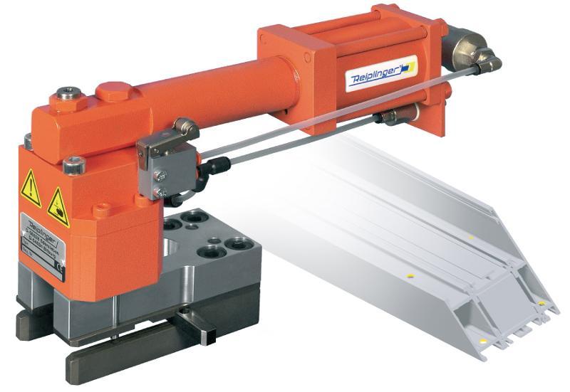 Punching of bonding- and pin holes for corner joints - Handstanze PFS - Multi-Max® (Klebelöcher)
