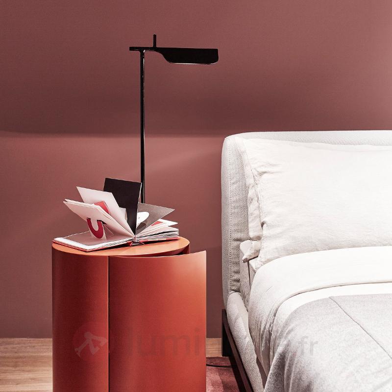 Lampe à poser LED TAB T noire - Lampes de bureau