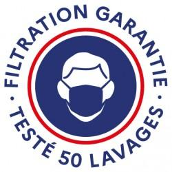 Masque Tissu Dga 50 Lavages Black (Préconisation Afnor) - null