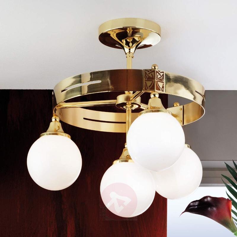 Eleganzia Ceiling Light Four Bulbs Brass - Ceiling Lights