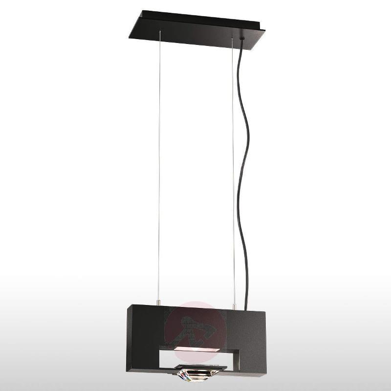 Madison - one-bulb hanging light in black - Pendant Lighting