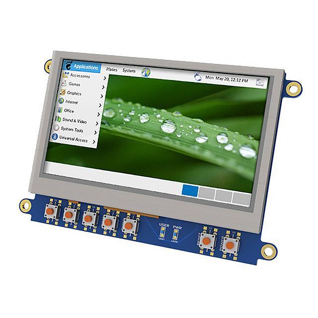 """LCD 4.3"""" 480X272 CAPE BEAGLEBONE - 4D Systems Pty Ltd 4DCAPE-43T"""