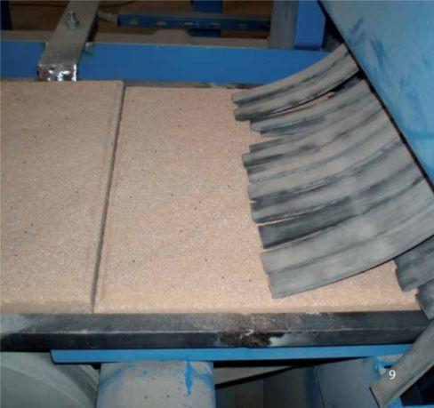 Band-Strahlanlage - Betonteil-Strahlanlagen zur Oberflächenveredelung