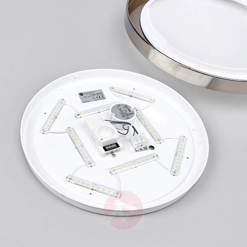 Aras LED bathroom ceiling light, sensor, nickel - Ceiling Lights with Sensor