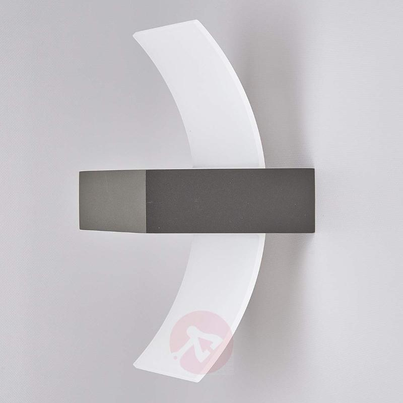 Skadi, Curved LED Exterior Wall Lamp - Outdoor Wall Lights