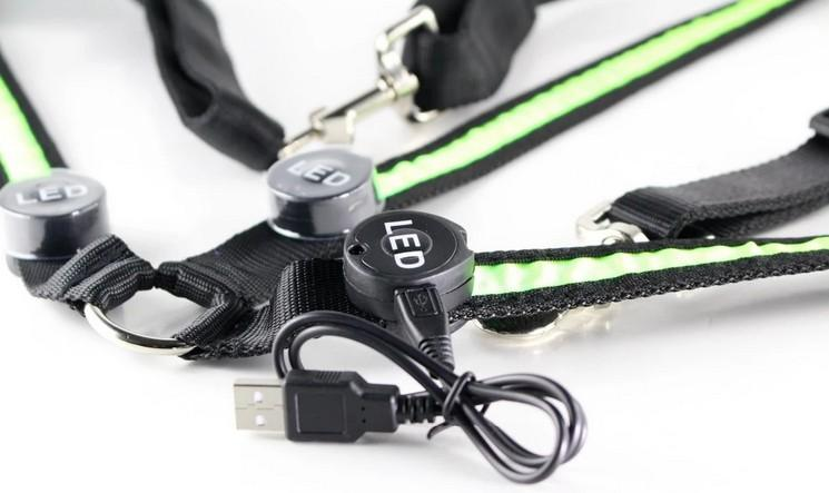 flashing led light horse neck and check harness of USB  - USB chargable chest and neck LED Flashing Horse Harness