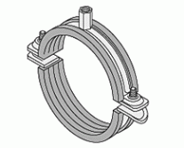 Pipe Clamps - Practica II Reinforced Single Bossed Clamps Rubber Lined