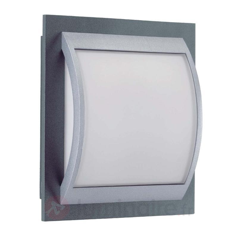 Solide applique d'extérieur Marcia verre opale - Numéros de maison lumineux