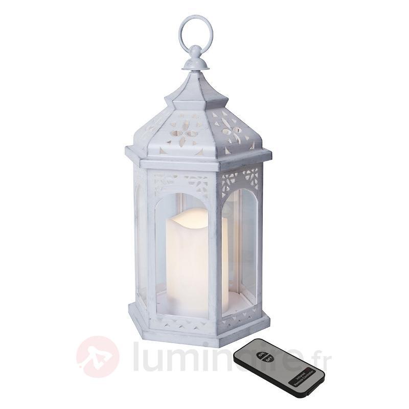 Lampe décorative LED blanche Amber Latern - Lampes décoratives d'extérieur