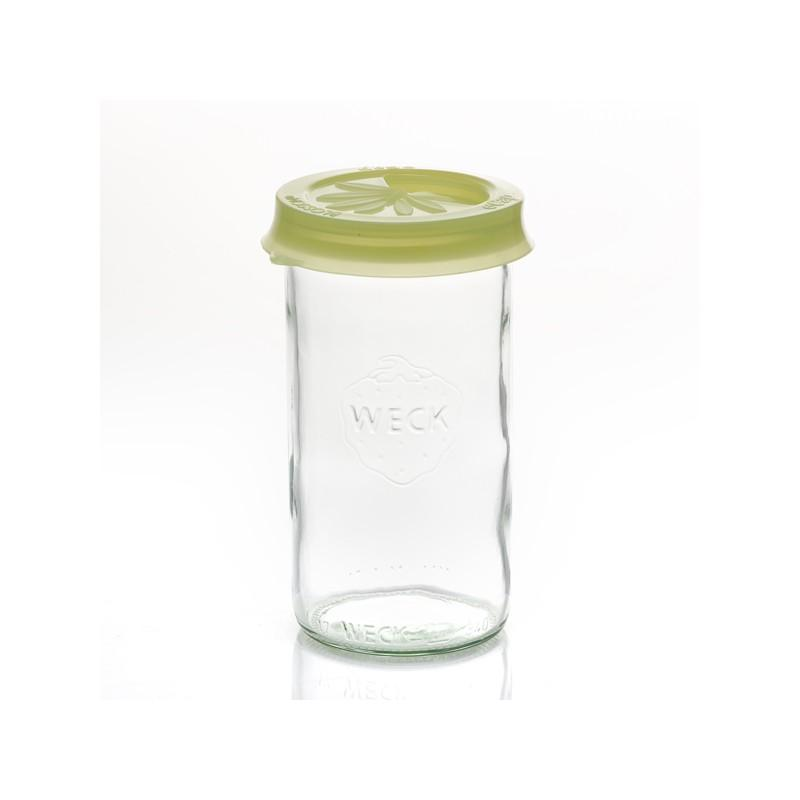 Accessori WECK® - Cuffia silicone eCAP Infuser diametro. 60 oliva gialla con beccuccio per vasi