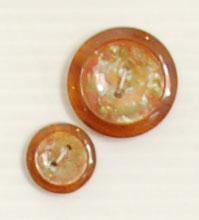 Bouton 2 trous (Plastique - Ambré - 22 mm) - Boutons