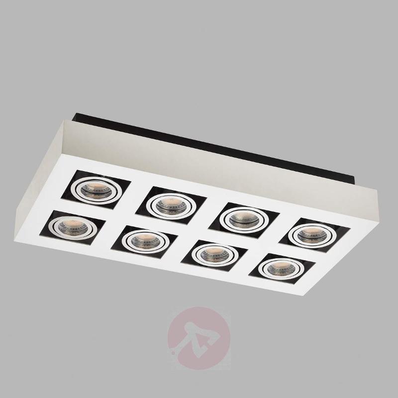 8-bulb bright LED ceiling light Vince in white - Ceiling Lights