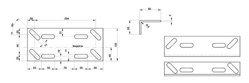 Fastening guide rails and accessories - Guide rail brackets