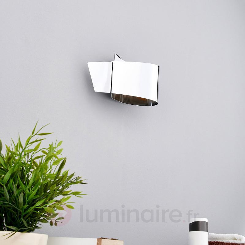 Applique LED Megan chromée attrayante - Appliques LED