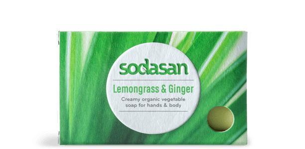 Sodasan Bar Soap Lemongrass & Ginger - null