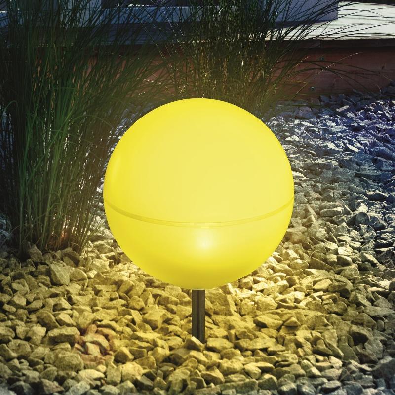 Boule lumineuse solaire flexible jaune