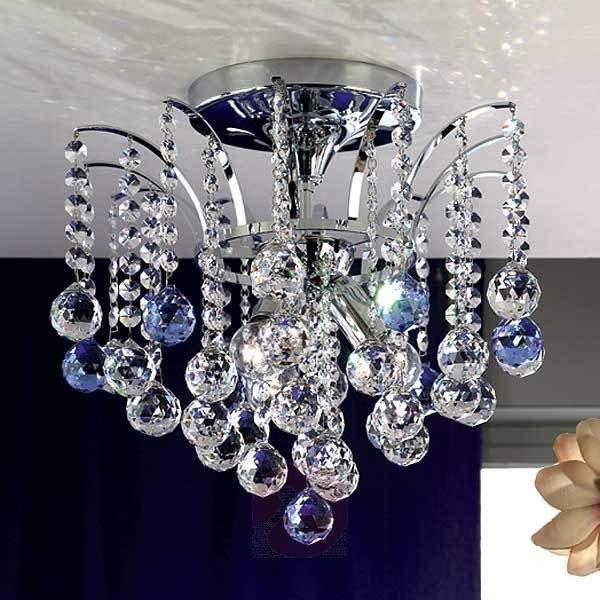 Lennarda Crystal Ceiling Light Sparkling 42 cm - Ceiling Lights